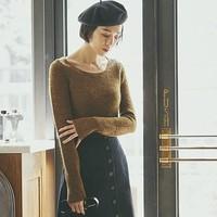 UNIQLO 优衣库 U系列 420988 羊毛混纺圆领针织衫