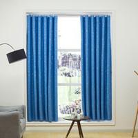 雷纳丝格 窗帘杆卧室隔断窗帘 星星天蓝色 1.5*1.8m