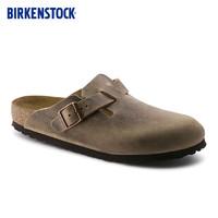 BIRKENSTOCKBIRKENSTOCK包头拖鞋男女同款软木拖鞋外穿牛皮拖鞋Boston系列 奇妙夜爆款