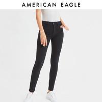 AEO女士时尚高腰紧身牛仔裤 奇妙夜爆款
