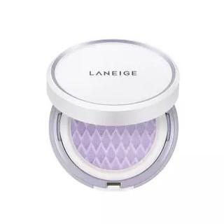有券的上 : LANEIGE 兰芝 雪纱丝柔气垫隔离霜 NO.40紫色(15g+15g 替换装) *3套