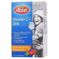 德国爱普泰Abtei复合维生素C+锌咀嚼片30片补充VC补锌提高免疫(有效期至2020-7-1) *5件