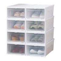 IRIS 爱丽思 塑料透明鞋盒 8只