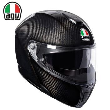 agv 碳纤揭面盔头盔