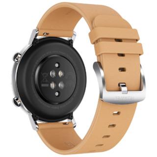 华为 HUAWEI WATCH GT 2 智能手表 (42mm、暖砂杏、时尚款)