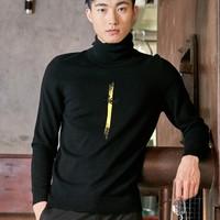 LILANZ 利郎 18DMS0022S 男士立领羊毛衫