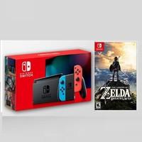Nintendo 任天堂 Switch 续航升级版 游戏主机 + 塞尔达旷野之息