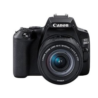 佳能迷你单反EOS 200D II黑色数码相机 单镜头套装 有效像素约2410万