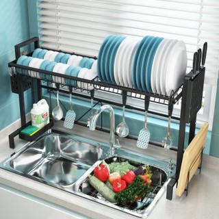 家佰利长度可伸缩厨房水槽架沥水架置物架碗碟架水池置物架