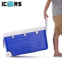 艾森斯(icers)高品质130L外卖PU保温箱 医用药品冷藏运输箱 海钓箱 大容量 生鲜