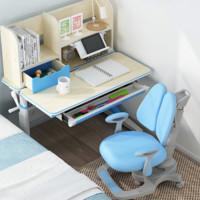 黑白调学习时光 HZH020024UT 成长记忆 小户型儿童学习桌椅套装