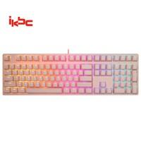 ikbc F410 108键 键盘 粉色 红轴