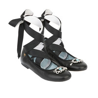 CHIARA FERRAGNI CF1425 宝石装饰系带女士平底鞋