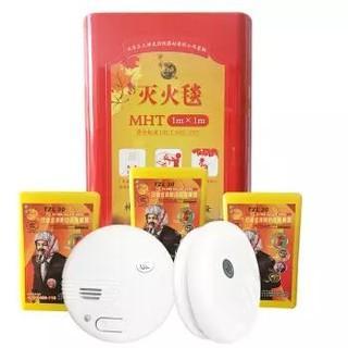 shenlong 神龙 家庭安全套装 3个呼吸器+1个灭火毯+2个烟雾报警器 送京救援服务