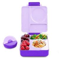 知茗 Omie Box 儿童分格保温饭盒 紫色