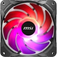 MSI 微星 机箱炫光风扇 散热器套装 (PWM智能调速/电脑机箱/风冷/3个12CMARGB风扇)