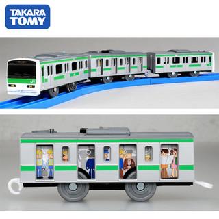 TAKARA TOMY 多美卡 电动轨道三节火车男孩玩具