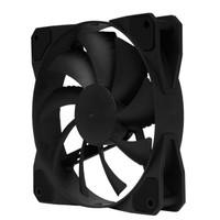 Tt(Thermaltake)暗夜 12cm 黑色 机箱风扇(黑框黑叶/无光静音/减震设计/静音/大4pin接口)
