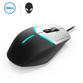 Dell/戴尔 外星人AW558游戏鼠标 AlienFX灯效3档DPI飞敏光学传感