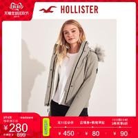 11日0点:Hollister2019年秋季新品短款舒适内衬飞行员夹克 女 300849-1