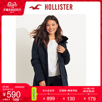 11日0点:Hollister2019年冬新品舒适内衬派克大衣 女 301993-1