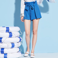 PEACEBIRD 太平鸟 AWGC82701 女士短裤