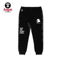 Aape 6449XXB 男装 猿颜字母印花休闲裤