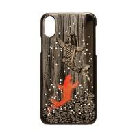 传统工艺王国 山中漆器 高盛描金 鲤跃龙门图案 iPhone X/XS/XR 手机壳