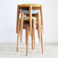 维莎 榉木软包凳 四色可选