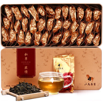 京东PLUS会员:八马茶业 私享浓情 浓香铁观音礼盒 252g(36包) *4件