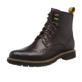 中亚Prime会员、限尺码 : Clarks Batcombe Lord 男士布洛克短靴
