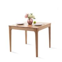维莎原木 w0410 北欧全实木餐桌 0.9m