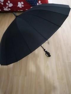 做工扎实,伞面超级大。分量有点重。长柄的