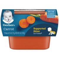 Gerber 嘉宝 果泥胡萝卜泥 婴幼儿辅食 胡萝卜泥一段 (6个月以上) 56g*2  *20件