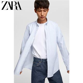 ZARA 男装 条纹牛津衬衣衬衫 06608350403