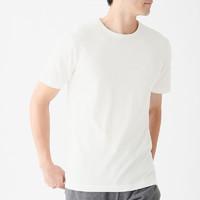 MUJI 无印良品 男士圆领短袖T恤 2件装