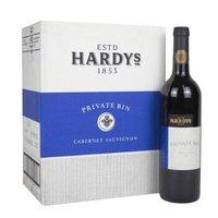 红酒整箱 澳洲进口干红葡萄酒 夏迪(Hardys)私家酒窖 赤霞珠750ml*6瓶