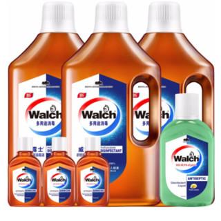 威露士消毒液 衣物家居洗衣地板清洁非84消毒水 6件套