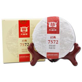京东PLUS会员 : TAETEA 大益 经典7572 普洱熟茶 150g *3件