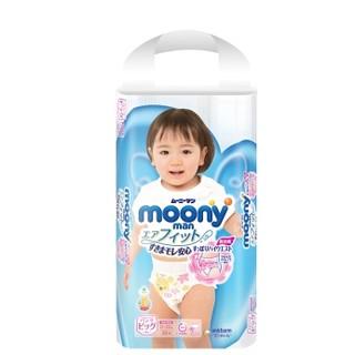 历史低价 :  moony 尤妮佳 女宝宝用拉拉裤 XL38片 *12件