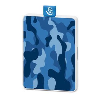 SEAGATE 希捷 STJE500406 2.5英寸 移动硬盘 迷彩蓝 500GB