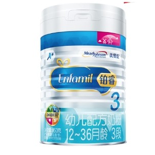 MeadJohnson Nutrition 美赞臣 铂睿 幼儿配方奶粉 3段 850g *6件