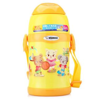 绝对值、新补货 : ZOJIRUSHI 象印 ST-ZEE45-EK 儿童保温吸管杯 450ml
