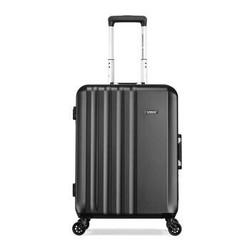美旅铝框拉杆箱新品 万向轮静音行李箱男 时尚商务出差旅行箱女密码箱TH6 炭灰色 25英寸 *2件