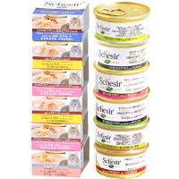 Schesir雪诗雅彩虹猫罐头进口湿粮天然成幼猫零食24罐 口味可选 *2件