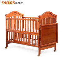 小硕士 婴儿床实木多功能宝宝床