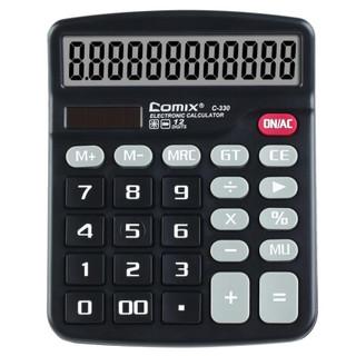 Comix 齐心 C-330 12位 双电源计算器 *5件