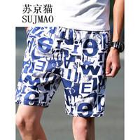 SUJMO 苏京猫 男短裤休闲运动五分裤 *8件