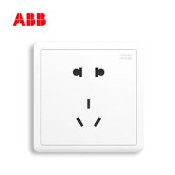 ABB开关插座面板五眼墙壁开关远致白色18只装A205套餐套装