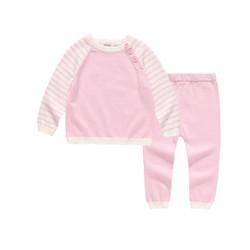 Oissie 奥伊西 1-4岁宝宝插肩袖纯棉毛衣套装 *3件